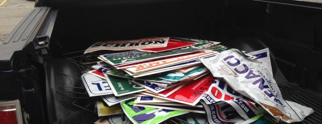 Recycle Campaign Yard Signs Now Until November 18