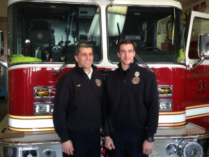 Kocon and Fire Chief Tony Raffin
