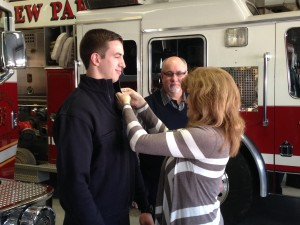 Michael Kocon Sworn In as Newest Firefighter/Paramedic
