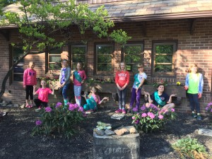 girl scout troop adopts bain park cabin city of