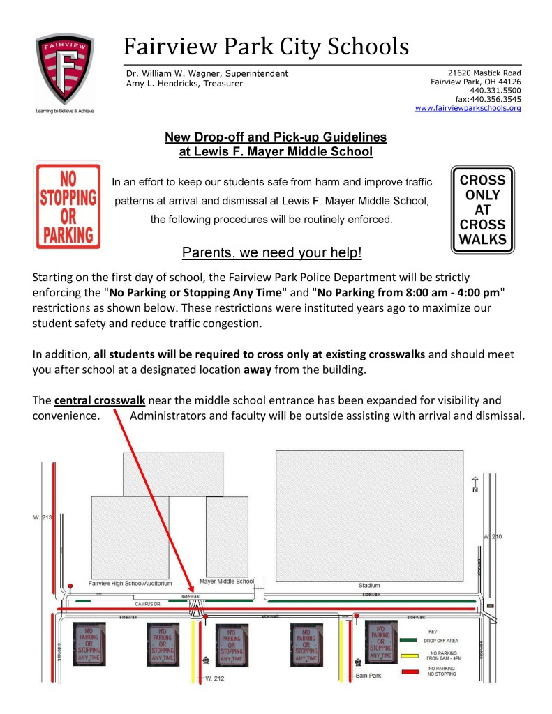 New Drop Off & Pick Up Procedures for Campus Drive