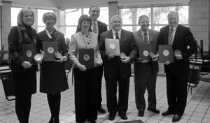 The Westshore mayors receive the Taxpayer Hero award from Ohio Auditor of State.